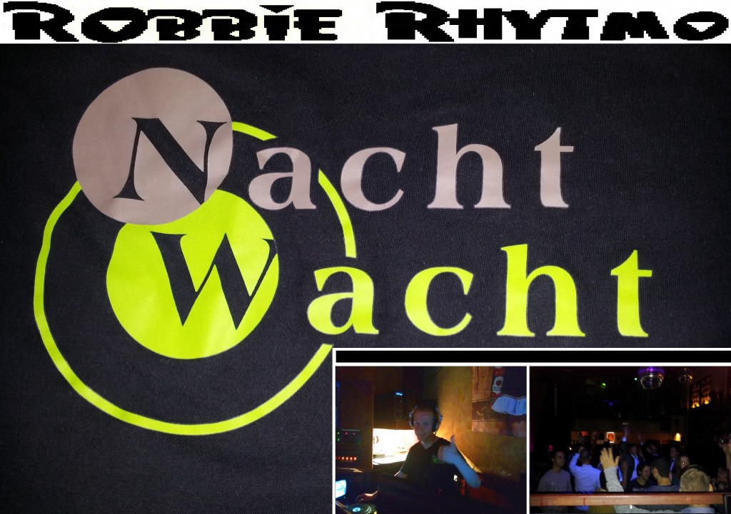 Robbie Rhytmo 1 year at De Nachtwacht Poster voor FB